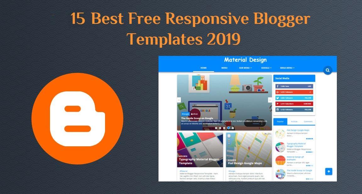 15 Best Free Responsive Blogger Templates 2019