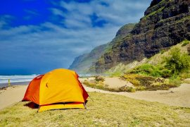beach camping in usa
