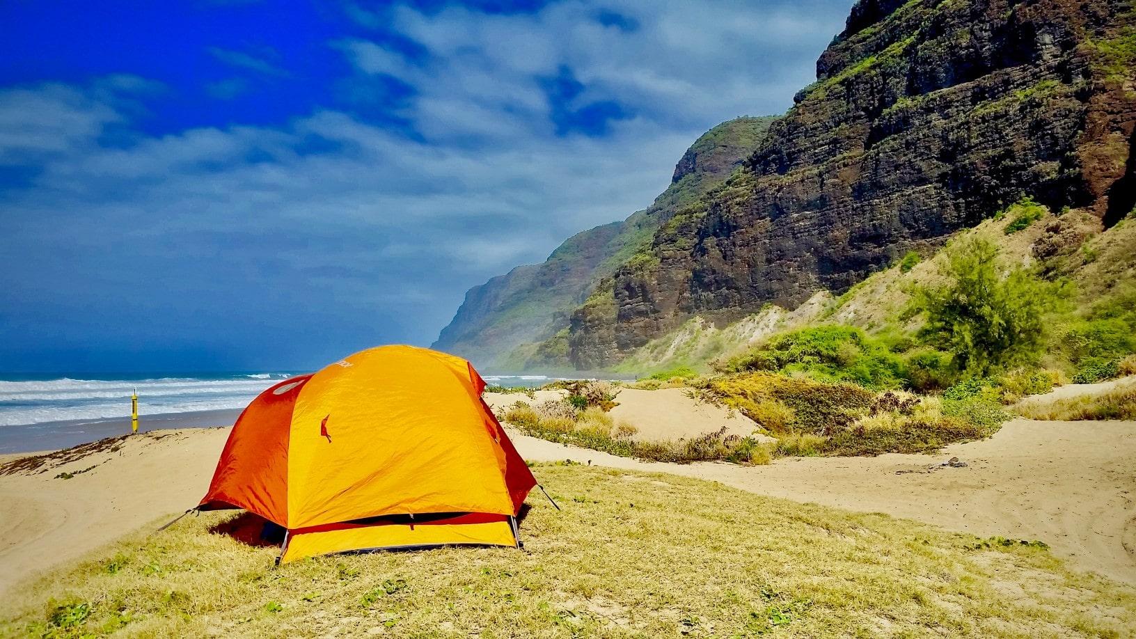 beach camping in usa