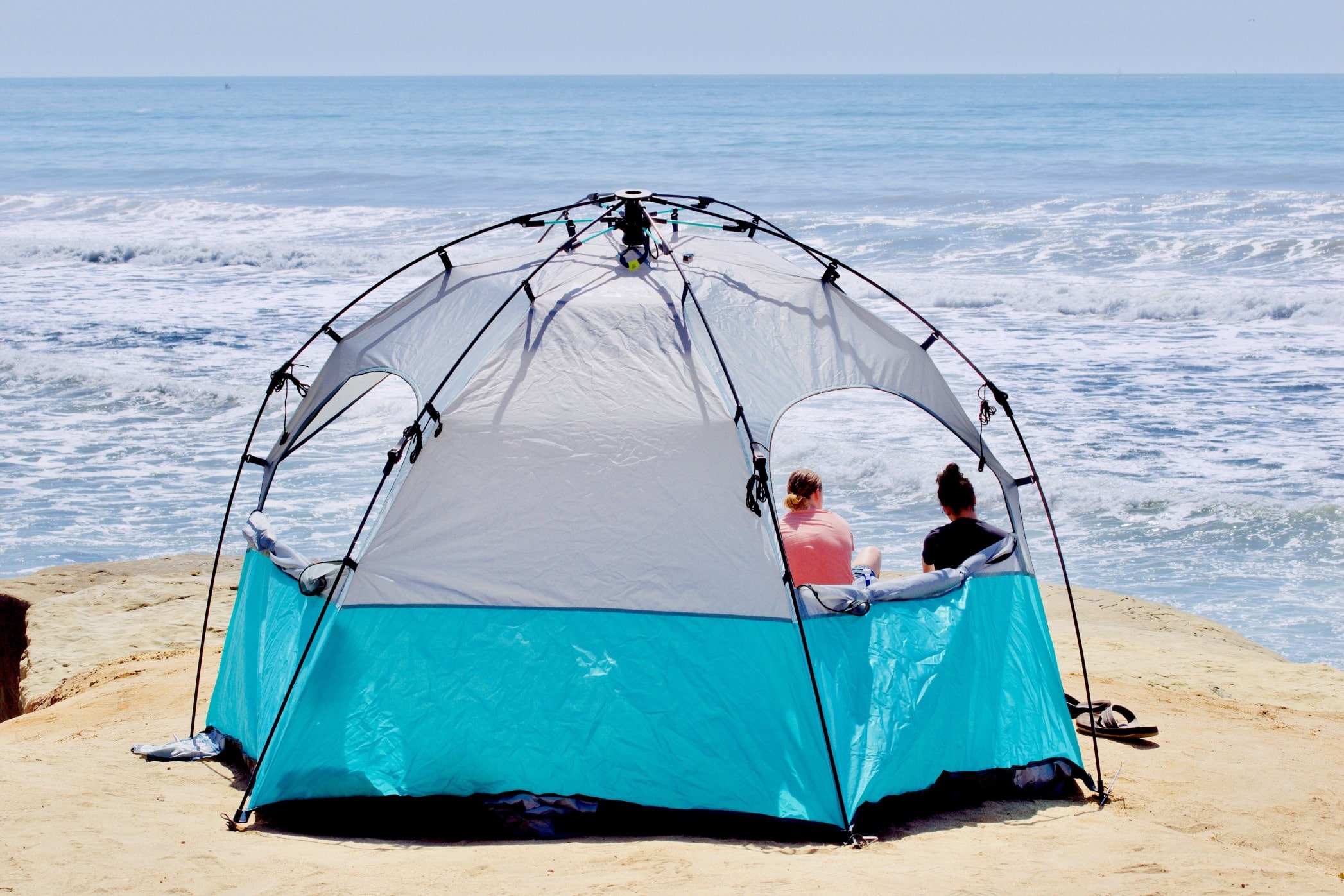 Camping in Beach Canopy Tent