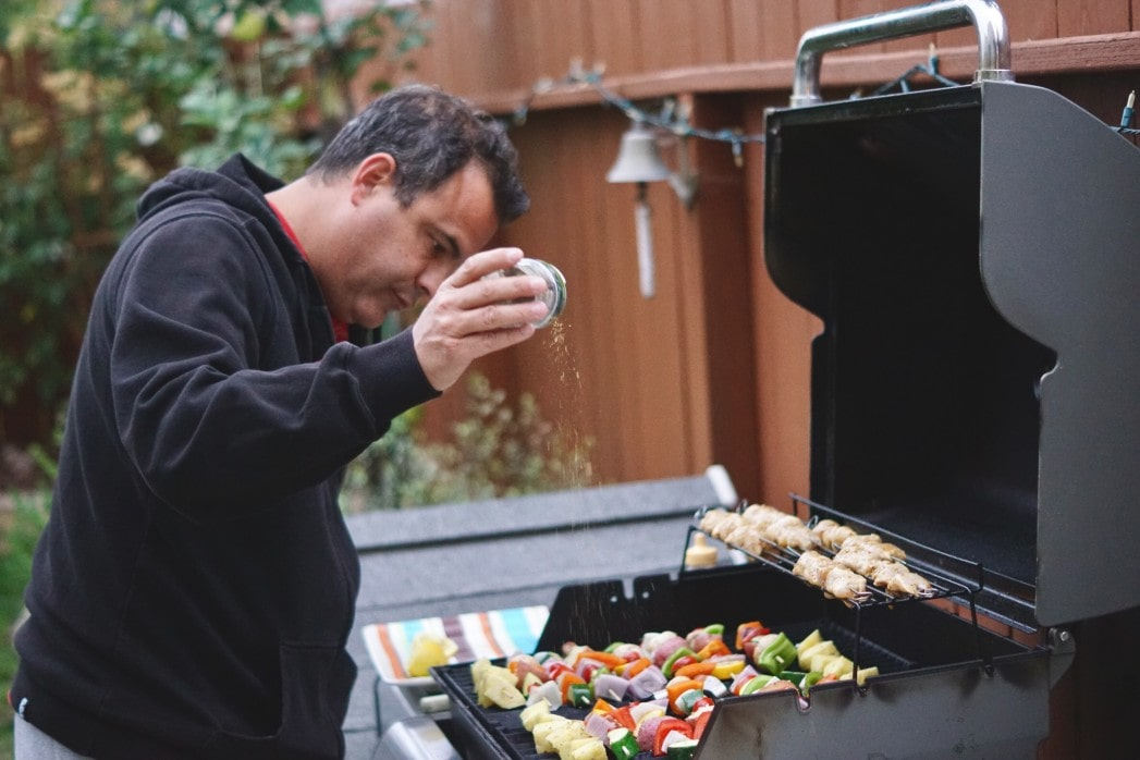 grilling and seasoning